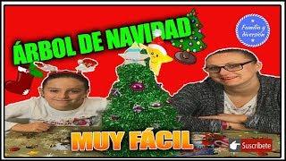 ÁRBOL DE NAVIDAD CASERO | Manualidad MUY FÁCIL | FAMILIA Y DIVERSIÓN