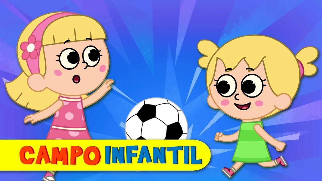 Elly y Eva juegan afuera - Canciones infantiles animadas | Campo Infantil