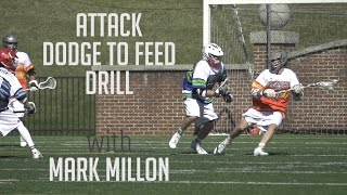 Attack Drill with Mark Millon   Project 9 Lacrosse