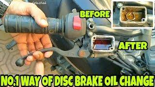 HOW TO CHANGE DISC BRAKE OIL OF MOTORCYCLE AND REPAIR/BRAKE BLEEDING