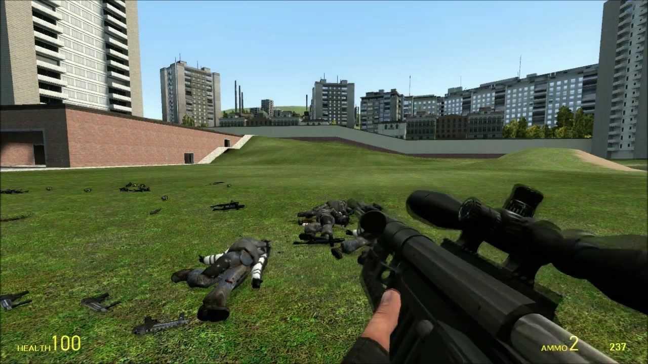 Garry's Mod M9k Heavy Weapons Test