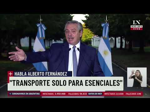 Alberto Fernández anunció nuevas restricciones contra la segunda ola de coronavirus - LA NACION