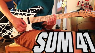 fake my own death sum 41 guitar cover hdstudio quality