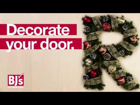 Deck Your Door Monogram Holiday Wreath