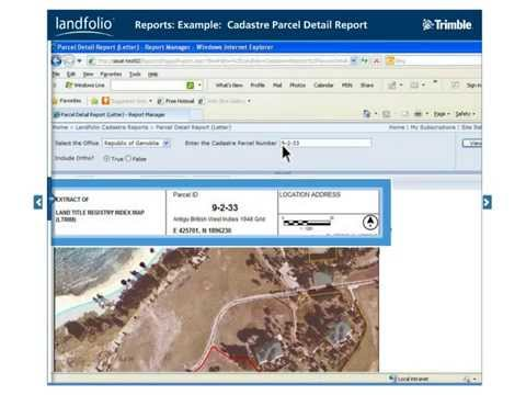 Trimble Land Administration – Landfolio