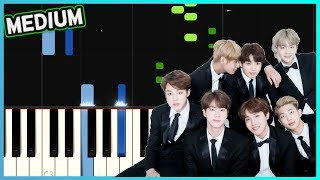 BTS 방탄소년단 피 땀 눈물 Blood Sweat Tears Piano Tutorial