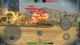 Wot Blitz || T26E4 super pershing gameplay || first game after the AP penetration buff