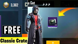 Get Classic Create & Gun Without Uc || Convert Clan Point Into Crates Coupon In Pubg || 100% Working