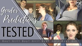 Gender Predictions - TESTED!! | Boy? Girl? | We did 11 Different tests!