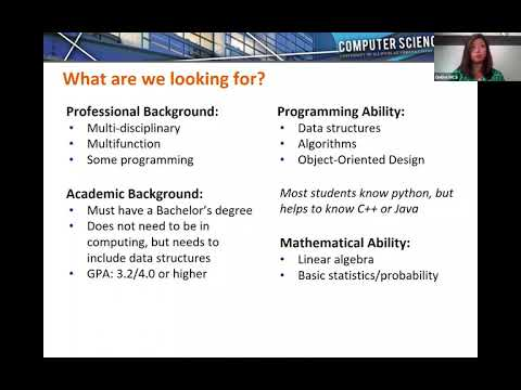 Illinois Online Master of Computer Science (MCS) and MCS in Data Science Admissions Webinar