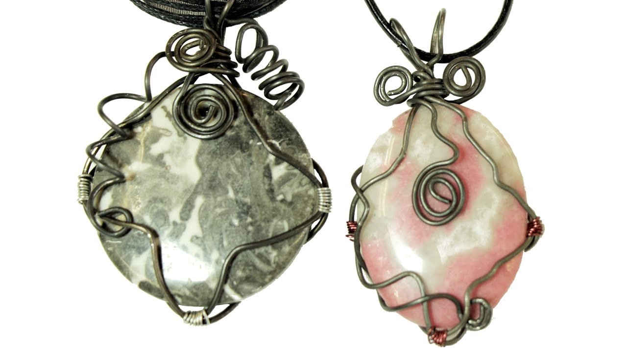 wire wrapping tutorial for pendants [ 1280 x 720 Pixel ]