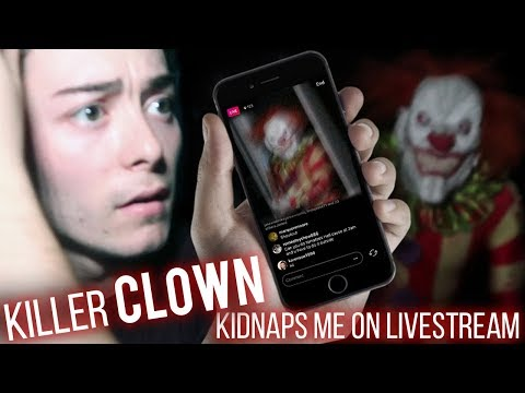 "KILLER CLOWN ""IT"" KIDNAPS ME ON LIVESTREAM! (uncut live footage) Are killer clowns back?!"