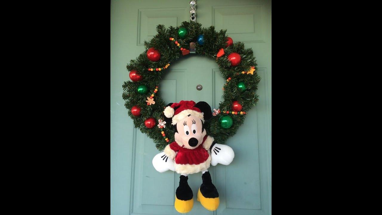 diy disney christmas wreath youtube