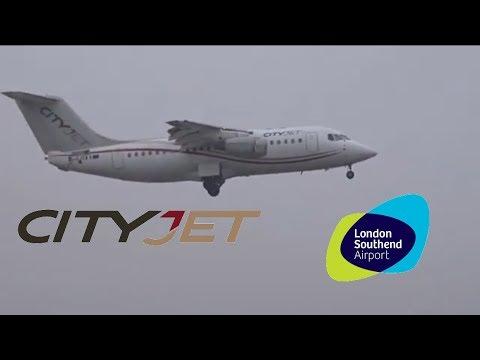CityJet RJ-85 EI-RJO Arrival At London Southend Airport 3.3.18