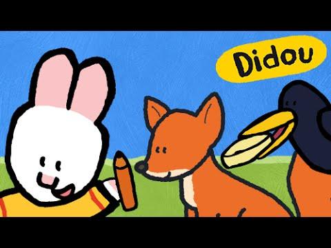 Didou le corbeau et le renard les fables de la fontaine pour les enfants avec didou youtube - Coloriage le corbeau et le renard ...