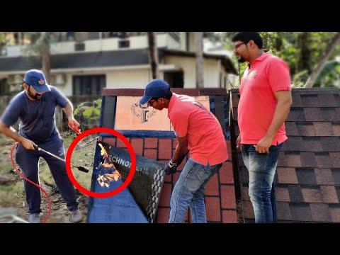 എന്റ വീട്ടിൽ Roofing Shingles Demo കാണിക്കാൻ വന്നതാ 😜..... | Roof Shingles work in Kerala