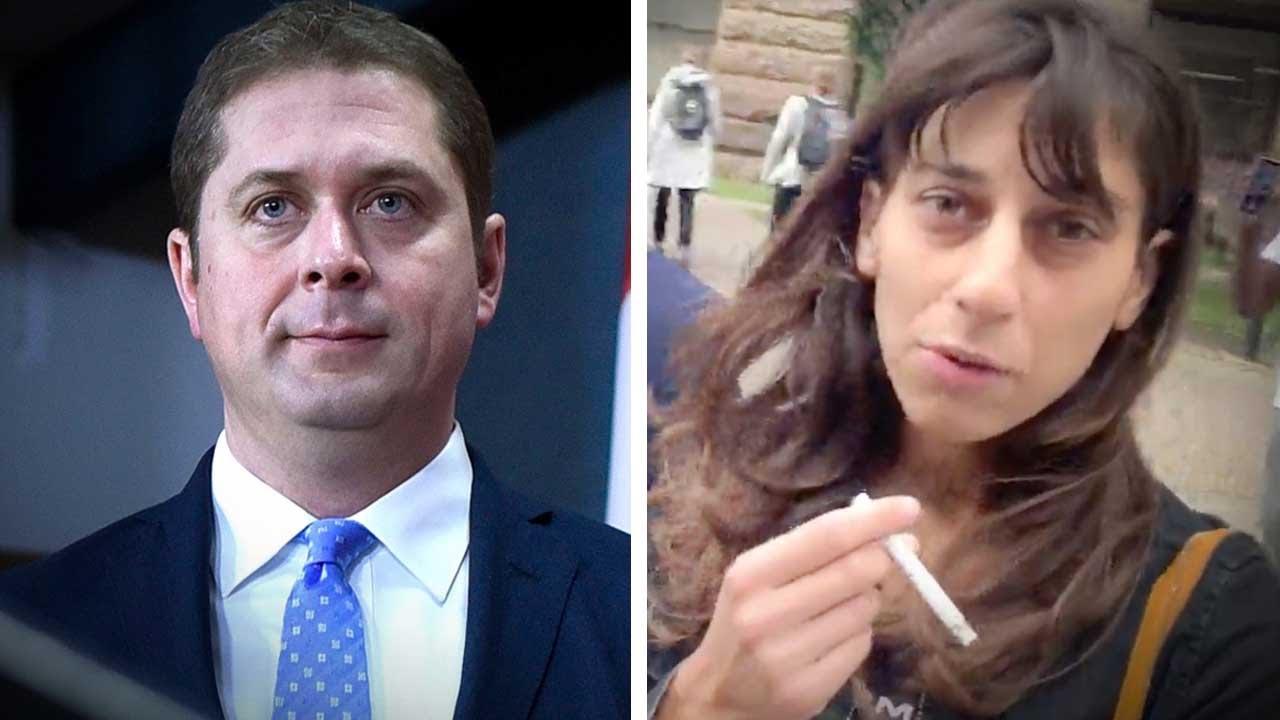 "Confronting ""Vote Andrew Scheer"" racist hate hoaxer Talya Davidson after court date | David Menzies"