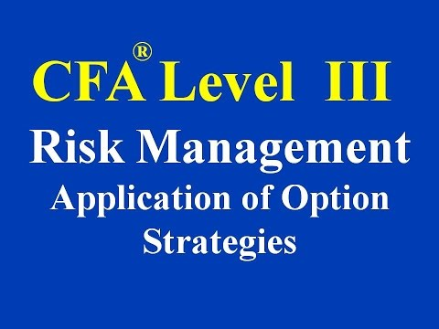 CFA Level III- Risk Management Application of Option Strategies