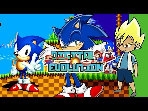 Sonic The Hedgehog, From 2D To 3D And Back To 2D -Digital Evolution