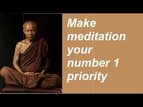 """Make meditation your number 1 priority"" (HD) - Dhamma Talk by Ajahn Martin"