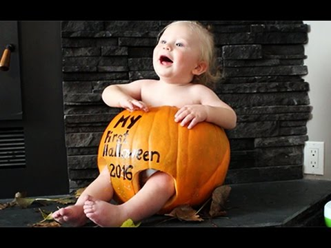 baby in the pumpkin first halloween pumpking carving