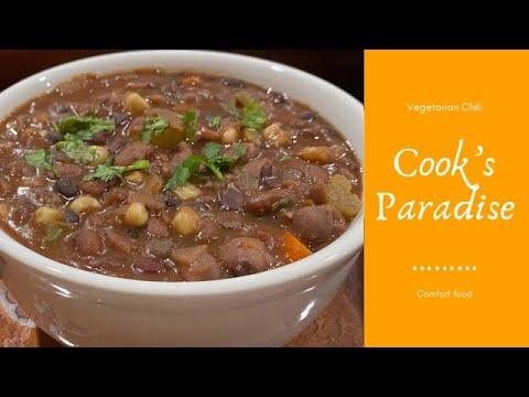 Vegetarian Chili Soup Plant Based Protein Soup Vegan Chili Recipe Youtube