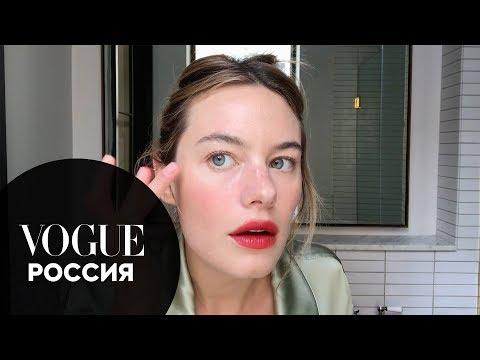 Камилль Роу показывает, как сделать макияж француженки