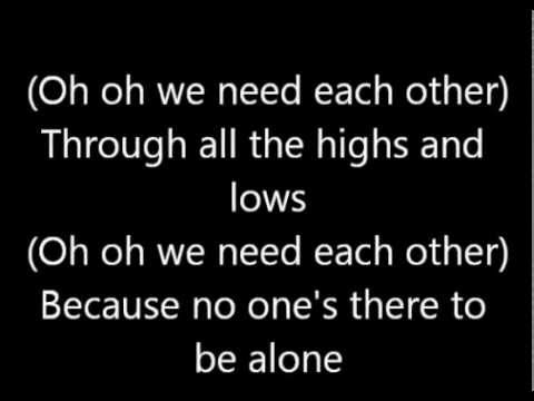 Sanctus Real We Need Each Other (Lyric Video)