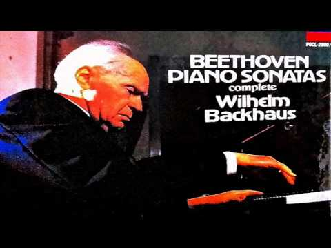 Beethoven  The Complete 32 Piano Sonatas reference recording : Wilhelm Backhaus