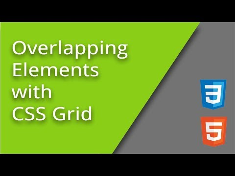 Overlapping CSS Grid Elements