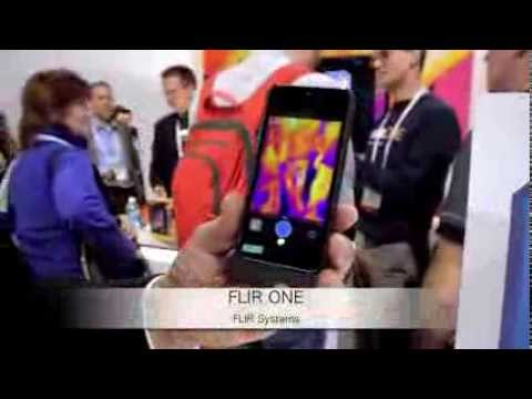 CES2014:FLIR Systems、iPhone 5用赤外線サーモグラフィカメラ付きケース「FLIR ONE」Demo