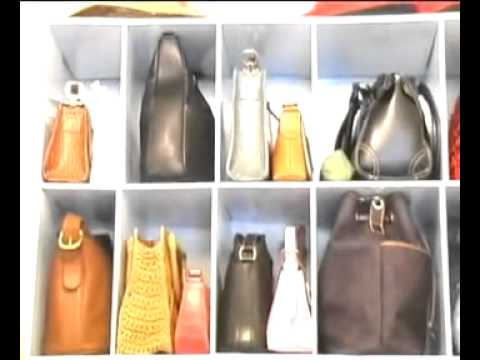 Park a purse closet purse organizer improvements catalog youtube