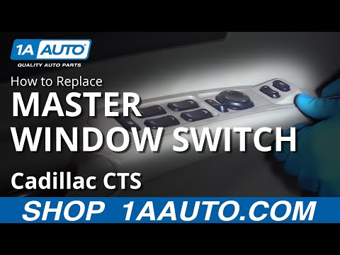 How to Replace Install Master Window Switch 05 Cadillac CTS
