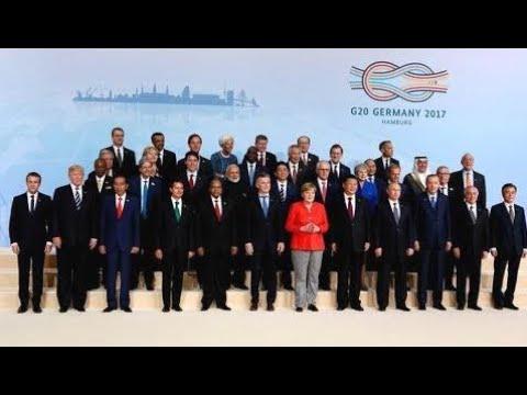 Breaking News:  G20 summit 2017 in Hamburg, Germany G 20 summit. July 7, 2017. Day 1.