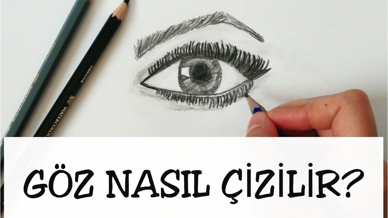 Basit Ve Gerçekçi Göz çizimi How To Draw A Realistic Eye Youtube