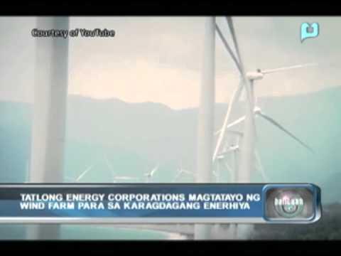 Tatlong energy corporations, magtatayo ng wind farm para sa karagdagang enerhiya