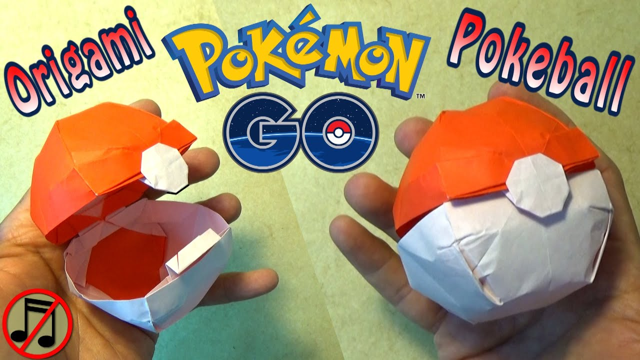 origami pokeball that opens no music youtube