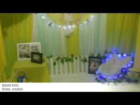 dekorasi aqiqah tasmiyah simple dan elegant || banjarmasin