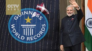Indian PM's auctioned suit enters Guinness Book of World Records