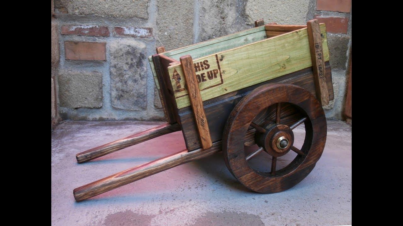 Come realizzare un carretto in legno riciclato hand cart prima parte youtube - Realizzare un tavolo in legno ...