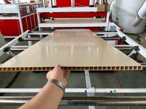 China PVC Hollow Door Extruder Machines For India  Plastic Door Extruder Machine Manufacturer