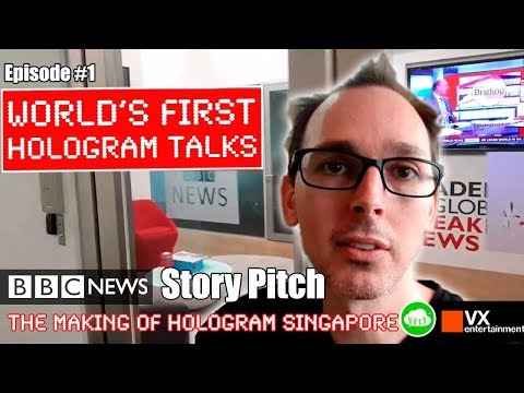 Pitch meeting at BBC NEWS in Singapore - World first hologram talks