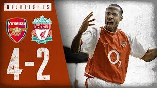 HENRY WITH A WORLDIE! | Arsenal 4-2 Liverpool | Highlights | April 9, 2004