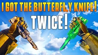 i got the butterfly knife twice bo3 dlc weapon gameplay funny moments highlights matmicmar