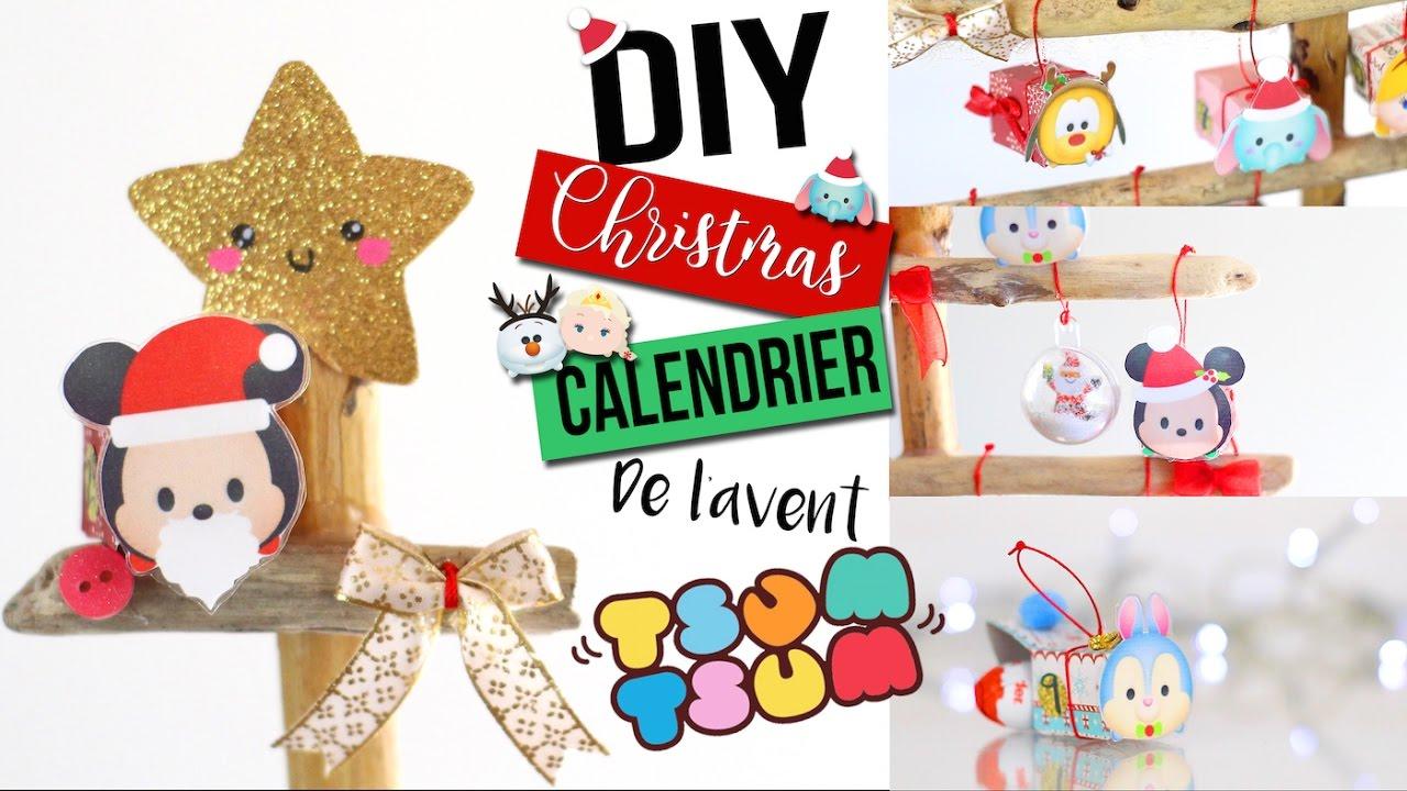 diy no l calendrier de l 39 avent tsum tsum disney kawaii deco francais christmas room decor. Black Bedroom Furniture Sets. Home Design Ideas