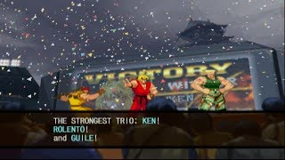 Capcom vs. SNK 2: Mark of the Millennium 2001 - Ken/Rolento/Guile - Arcade Mode Playthrough