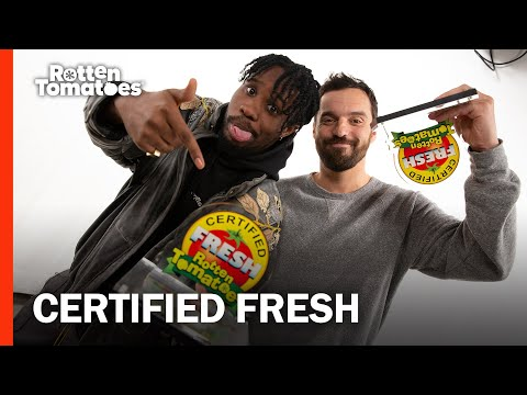 Watch Jake Johnson And Shameik Moore's Hilarious Certified Fresh Acceptance Speech   Rotten Tomatoes