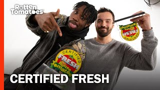 Watch Jake Johnson And Shameik Moore's Hilarious Certified Fresh Acceptance Speech | Rotten Tomatoes