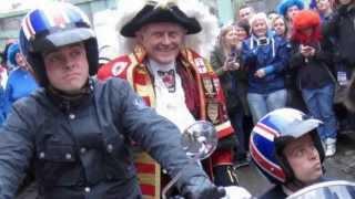 Royalist Town Crier Tony Appleton promotes Britain&#39s Got Talent BGT