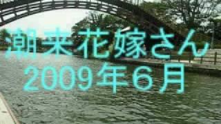 潮来花嫁さんは舟でゆく  Bride in riverside district  Itako(Pref. Ibaragi  Japan)